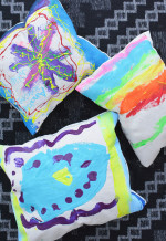 Kid Made Painted Pillows