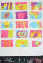 Colored Sand Art Stickers
