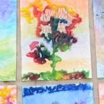 salt painting process art