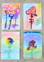 Salt Painting Art Work – Process Art for Kids