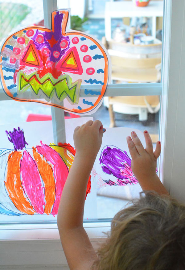 Pumpkin Suncatchers