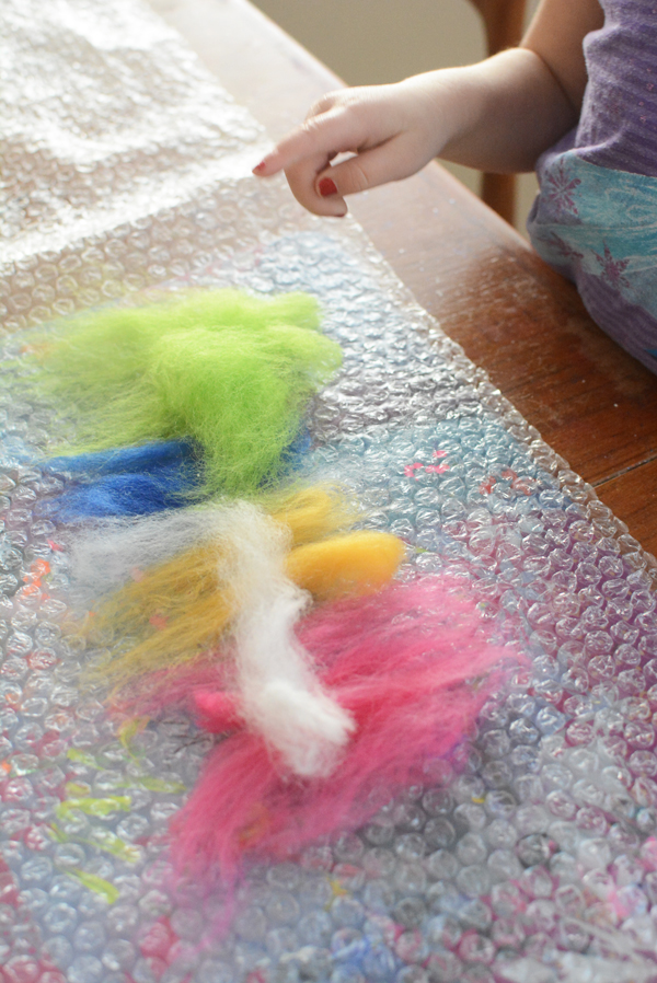 wet felting is a beautiful process art technique with natural materials and the results are gorgeous
