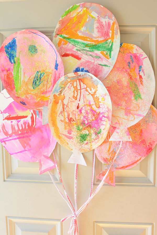 These are the sweetest birthday decorations.  Kid made, adorable and free!