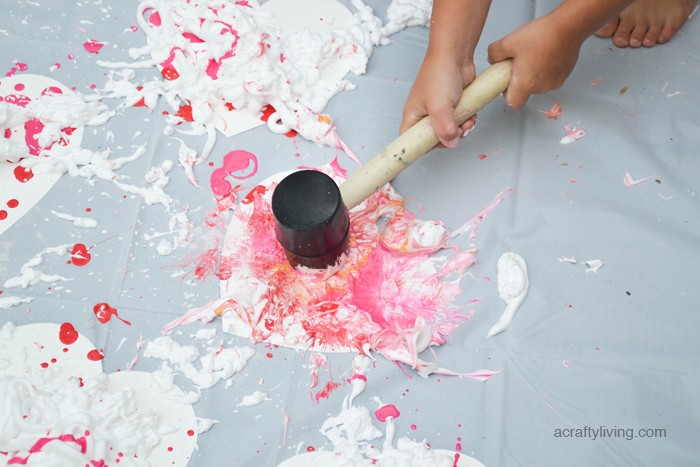 A crazy fun sensory activity for kids for Valentine's Day