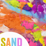 Sand Painting process art activity for kids