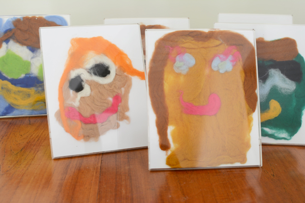 Have you ever tried wet felting?  It's an awesome process art activity for kids!