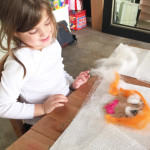 Have you ever tried wet felting? Such a creative way to do a self portrait with kids!