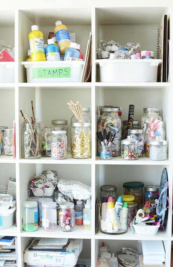 Art studio for kids - Love this peek into an art teachers home studio.