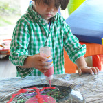 Use old records to create fantastic art for kids