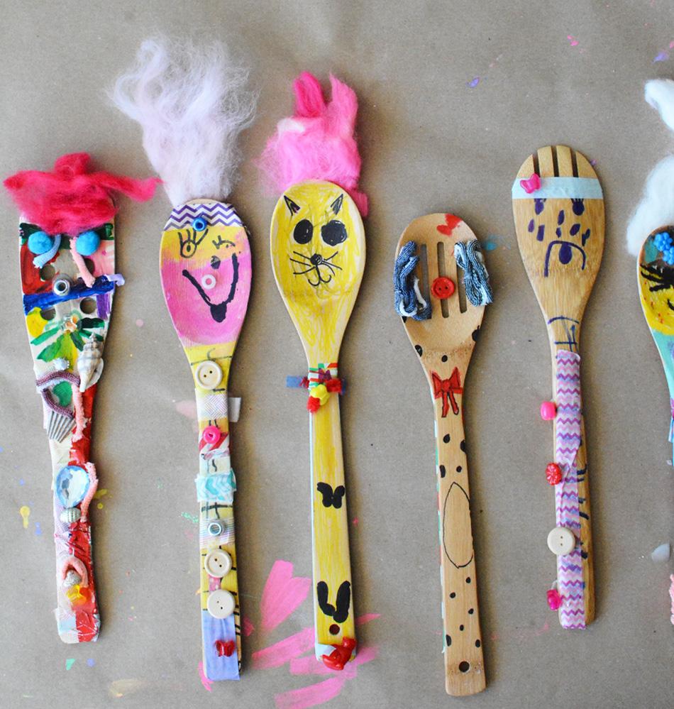 Wooden Spoon Puppets Meri Cherry