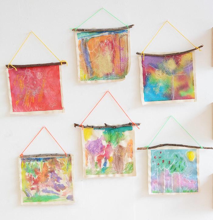 Framed Yarn Wall Art