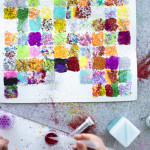 100th day glitter project