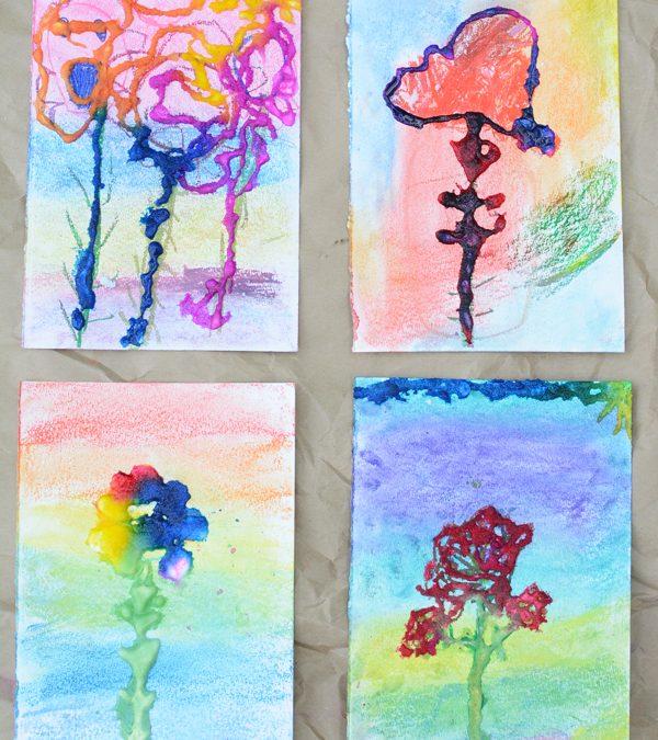 Salt Painting Art Work – Process Art for Kids